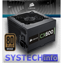 Fonte Corsair Cx 600w 80 Plus Bronze Pfc Ativo