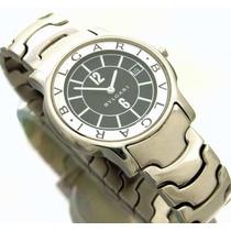 Relógio Bvgaria Solotempo Masculino Em Aço E Safira J7338