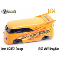 62 Vw Bus - Kombi - V Dubs - Jada 1:64 - Orange Bang