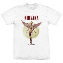 Camiseta Nirvana In Utero Logo Stamp