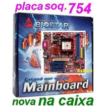 Placa Biostar K8vga-m Mini-atx On-board Nova Soquete 754