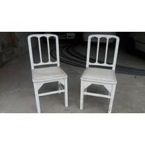 Cadeira Em Madeira Acento Almofada