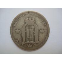 Suécia Moeda Prata 50 Ore 1898