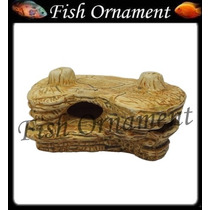 Enfeite Aquario Ceramica Pedra Ciclideo Env Fish Ornament