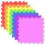 12 Tapete Em Eva - Tatame - 50 X 50 Cm - Cores Vibrantes