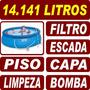 Piscina Intex Inflável 14141 - 14142l Completa 110v + Brinde