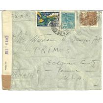 Envelope Aéreo 1933 Para Usa - Selos Réis Década De 30