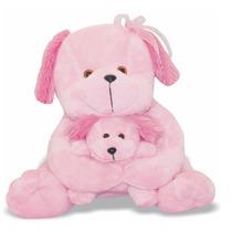 Pelúcia Cachorra Com Filhote - Cachorra E Filhote -soft Toys