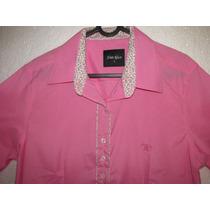 Camisa Country Feminina Rosa M Longa T Algodão Tam M G