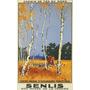 Caçada Cavalo Cachorros Senlis França Vintage Poster Repro