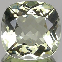 Joalheriavip 3.60 Cts Ametista Verde 100% Natural Cushion