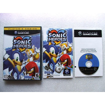 Game Cube: Sonic Heroes Americano Completo!! Raríssimo!!