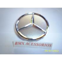 Calota Miolo Centro Roda Mercedes Classe A/b/c/e/s Prata