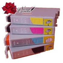 Kit 4 Cartuchos Epson To631 To632 To633 To634 Compativel C67