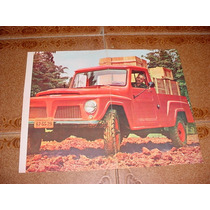 Folder Raro Willys Rural Picape Pick Up Anos 60