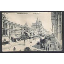 Postal Antigo, 1907 Rio De Janeiro, Avenida Rio Branco.
