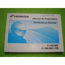 Honda C100 Biz Es 2002 Manual Do Proprietário