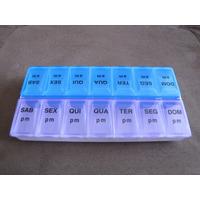 Porta Comprimidos Organizador Semanal Diário De Remédios