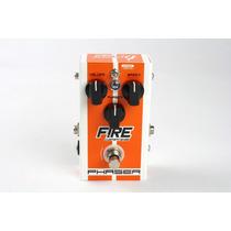 Pedal Fire Phaser Vibrato Para Guitarra E Baixo True Bypass