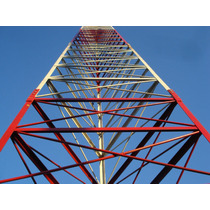Torre Antenas Autoportante Via Radio Fm Wireless 9 A 36 Mt