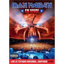 Dvd Iron Maiden En Vivo! Live Santiago [eua] Duplo Novo