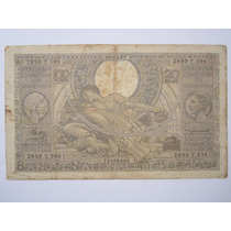 Belgica Cédula 100 Francs 20 Belgas 1937 Mbc