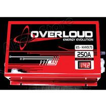 Carregador Bateria Fonte Overloud 250a Bivolt C/ Voltímetro