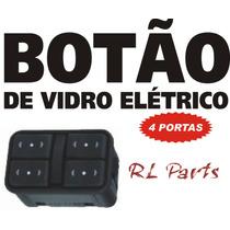 Botão De Vidro Elétrico Corsa Celta Astra Agile - Âmbar - 4p
