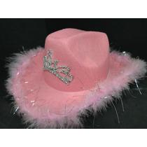 Lindo Chapeu Rosa Pink Festa Rodeio Tecido Veludo Fantasia