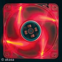 Cooler Ventilador 12x12cm Led Vermelho Akasa P/ Gabinete Pc