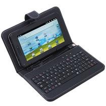 Capa Com Teclado Usb Para Tablet 7 Polegadas + Caneta Grátis