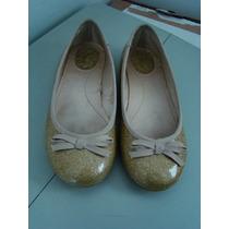 Zara Girls - Sapato Dourado. Tamanho 30