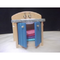 B. Antigo - Pia De Banheiro Miniatura Para Casa De Bonecas