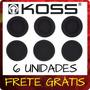 Kit 6 Espumas Reposição Fone Koss Porta Pro Frete Grátis