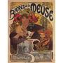 Cerveja Meuse Mulher Flores Poster Repro