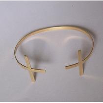 Bracelete Cruz Em Ouro 18k 750 Paolajoias