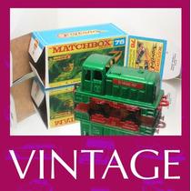 1976 Matchbox Lesney Locomotiva Trem + Custom Box