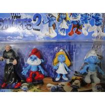 04 Bonecos Juntos The Smurfs 2 Com 13 Cm Altura Articula