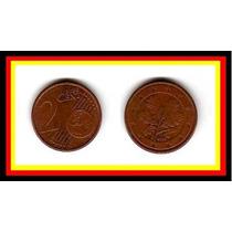 Moeda Alemanha 2 Cents .de Euro 2004 ( F ) * Folhas Carvalho