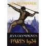 Jogos Olimpicos De Paris 1924 Homem Arpão Poster Repro