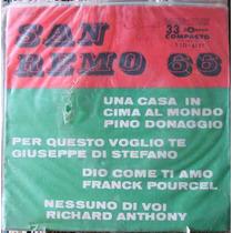 Festival De San Remo 66 Vários - Compacto Vinil Odeon 1966