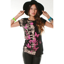 Blusa Ellie Skellie S/s Abbey Dawn Avril Lavigne - Tam M