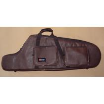 Semi Case (bag) Para Sax Baritono Em Couro Ecológico