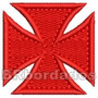 Patch Bordado Trj046 Cruz De Malta Pátea Vasco Escudo 2008