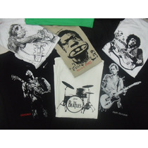 Camisetas Rock, The Beatles, Jimi Hendrix, Keith Richards