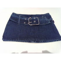 Mini Saia Jeans Boby Blues Tamanho 34