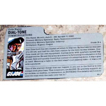 Gi Joe Arah 1986 - Dial-tone Filecard