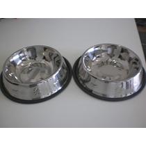 Comedouro Para Cães E Gatos ( Aço Inox) Importado( 960ml)