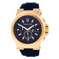 Relógio Michael Kors Mk8295 Azul E Rose Lindo Caixa E Manual