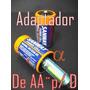 Adaptador E Conversor De Pilha Pequena Aa¨ Peq. P/ D Grande